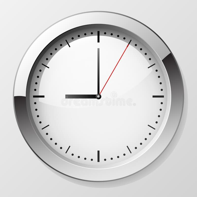 时钟墙壁 向量例证