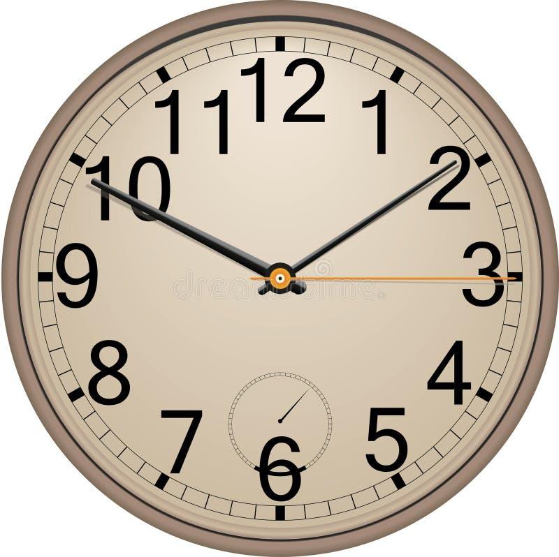 时钟墙壁 皇族释放例证