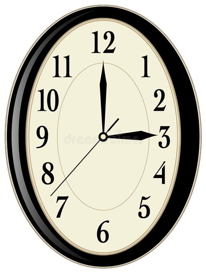 时钟墙壁 库存例证