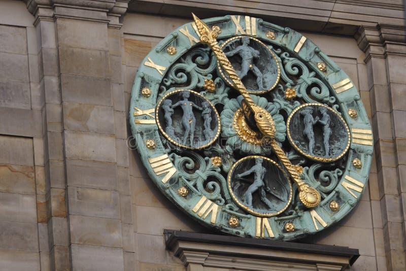 时钟大厅汉堡塔城镇 免版税库存照片