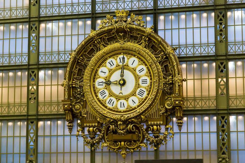 时钟奥赛博物馆 库存图片