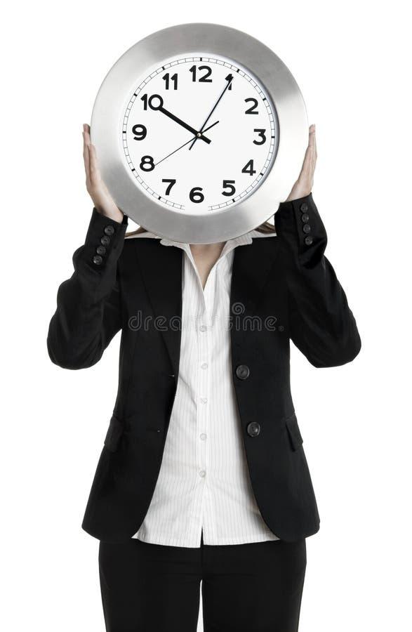 时钟妇女 免版税库存照片