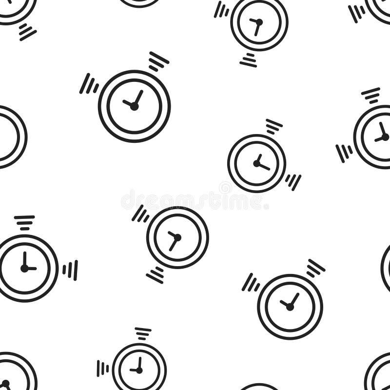 时钟定时器象无缝的样式背景 企业概念v 皇族释放例证