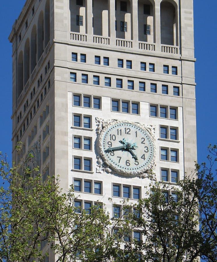 时钟庭院麦迪逊方形塔 库存照片