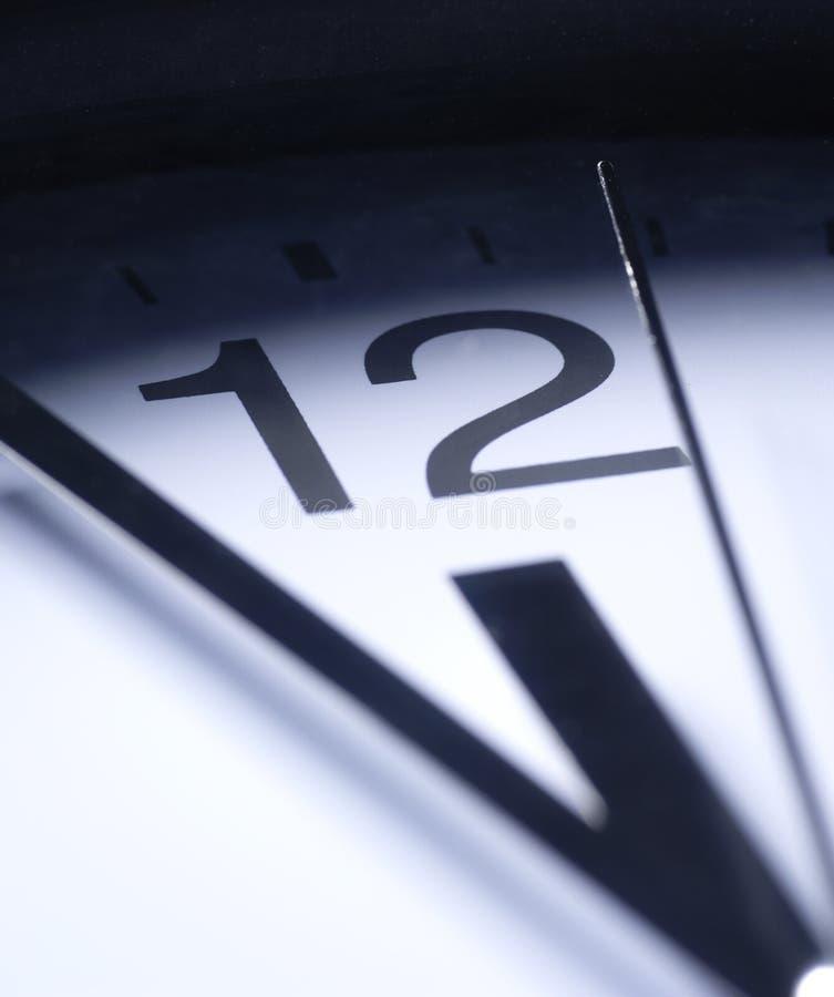 时钟接近的现有量 免版税库存照片