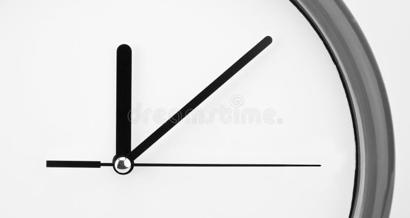 时钟接近面朝上 免版税库存照片