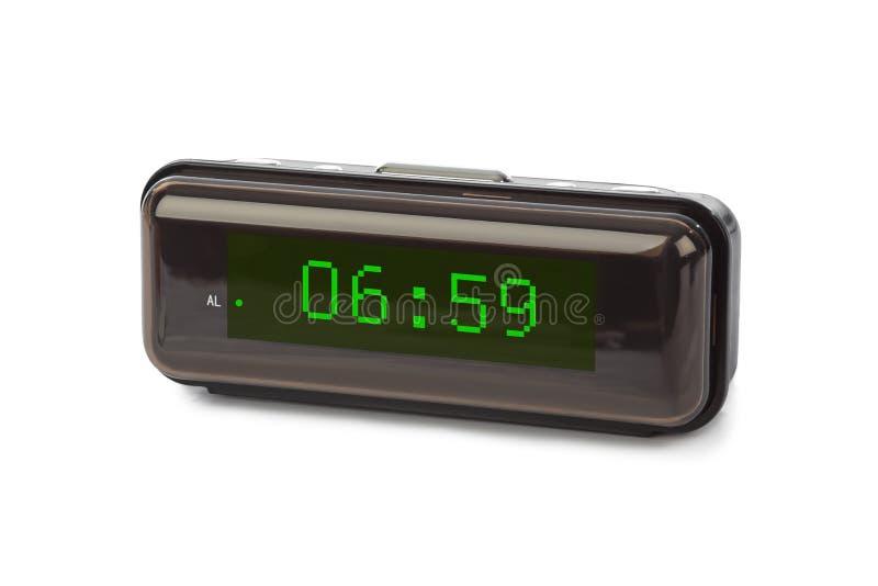 时钟数字式数字装载获得leds对多余 免版税库存照片