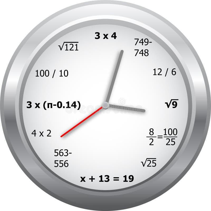 时钟数学 向量例证