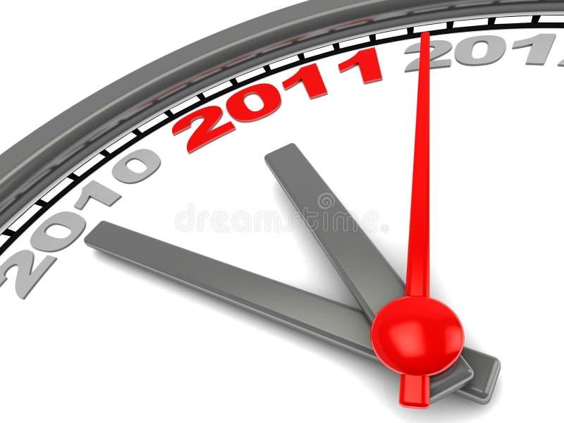 时钟新年度 皇族释放例证