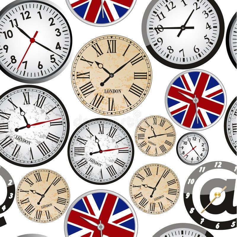时钟无缝的模式 皇族释放例证
