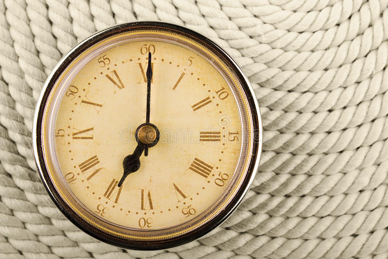 时钟时数数字罗马七次 库存照片