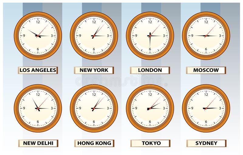 时钟时间墙壁 皇族释放例证