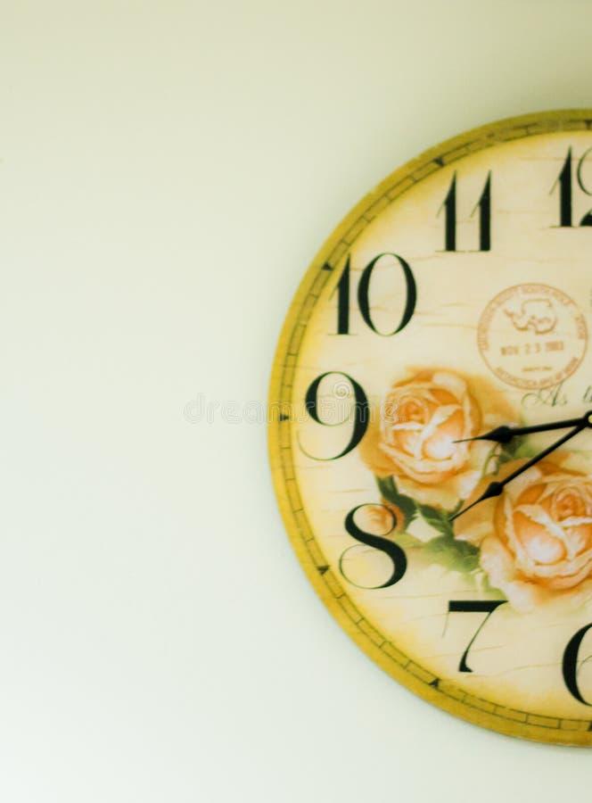 时钟时间的部分 库存照片