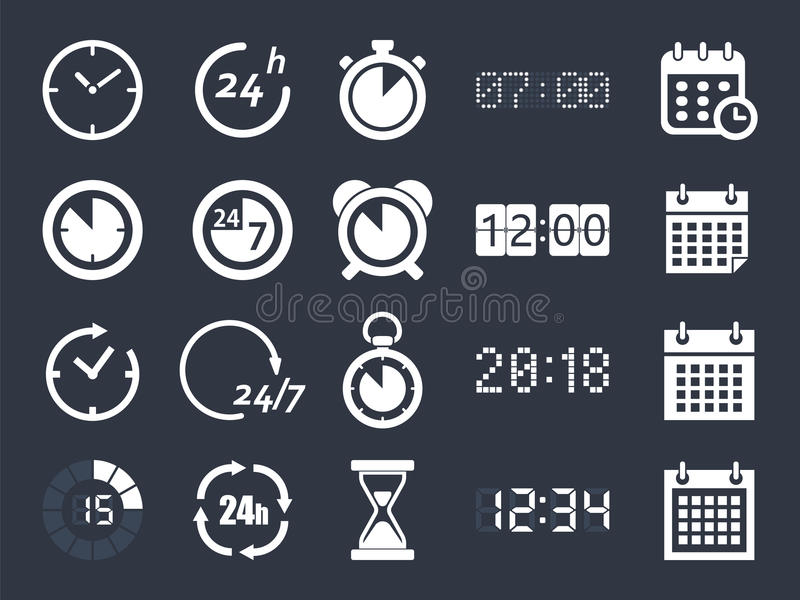 时钟时间象 库存例证