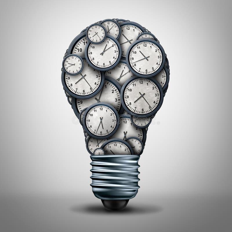 时钟时间企业解答 向量例证