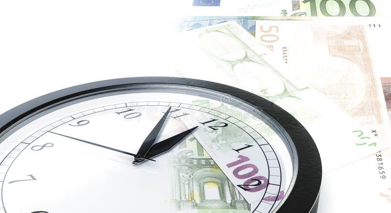 时钟时间金钱 免版税库存照片