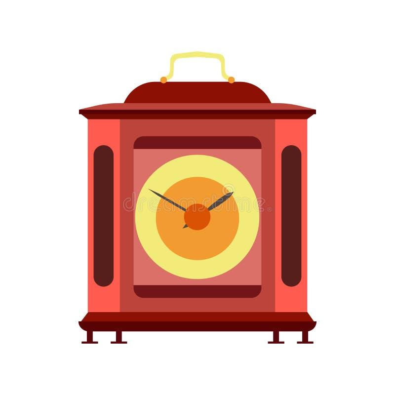 时钟机制手表机械传染媒介适应金属时间背景 向量例证