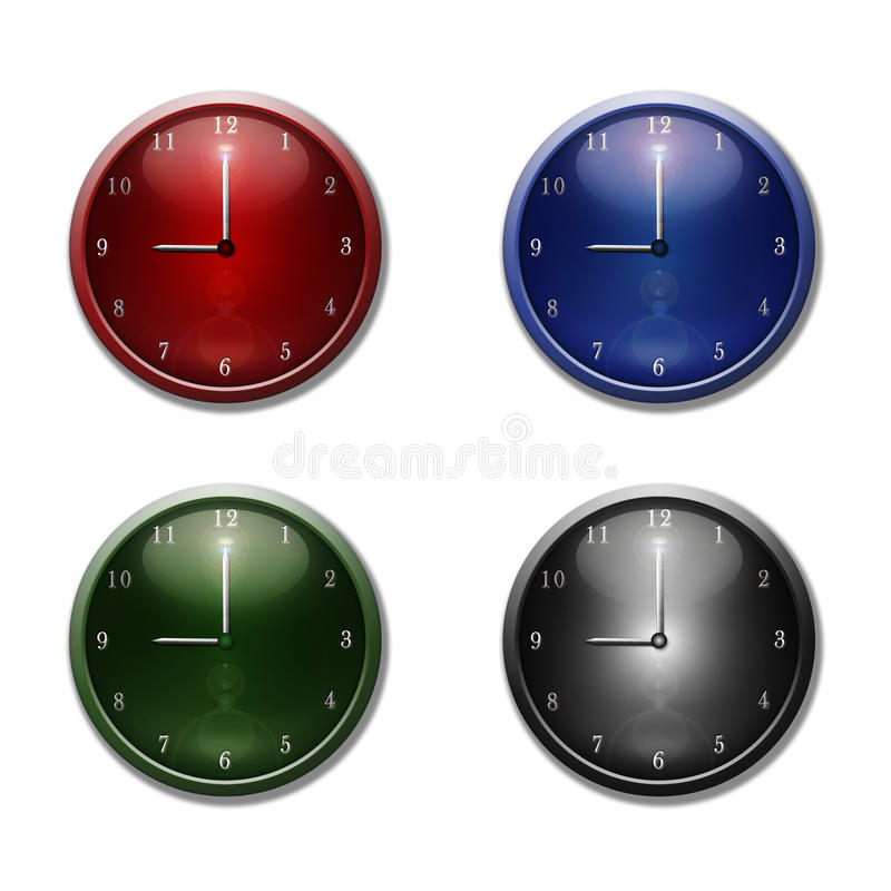 时钟杂色墙壁 皇族释放例证