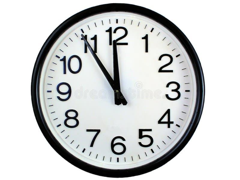 时钟来回墙壁 库存照片