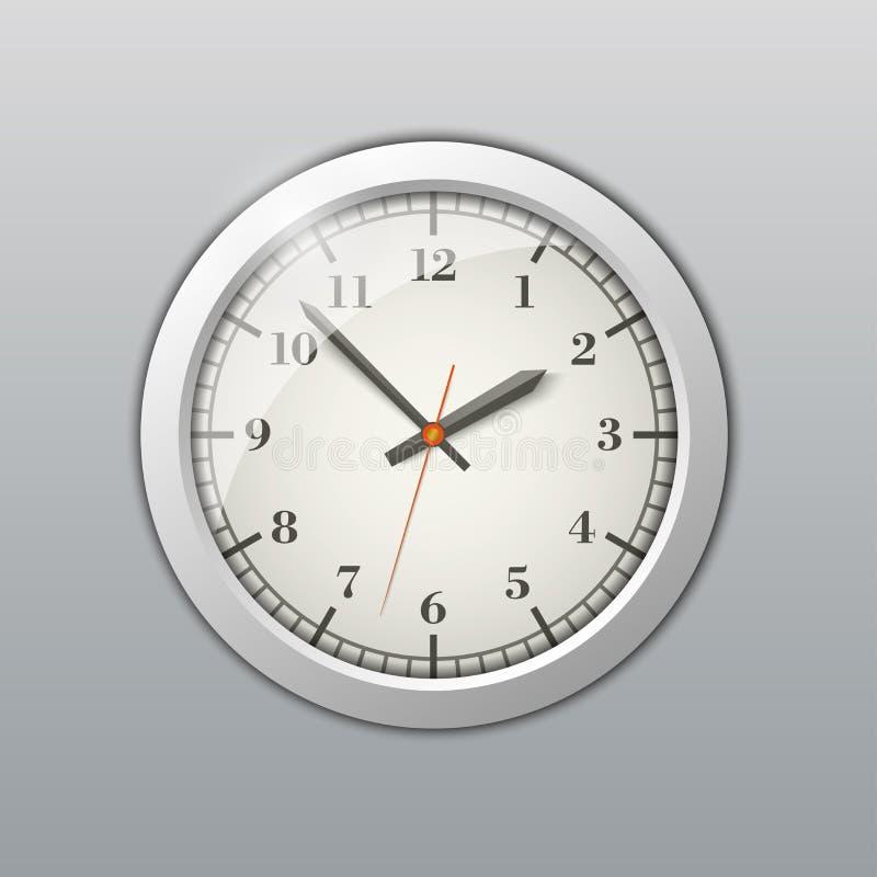 时钟来回墙壁 向量例证