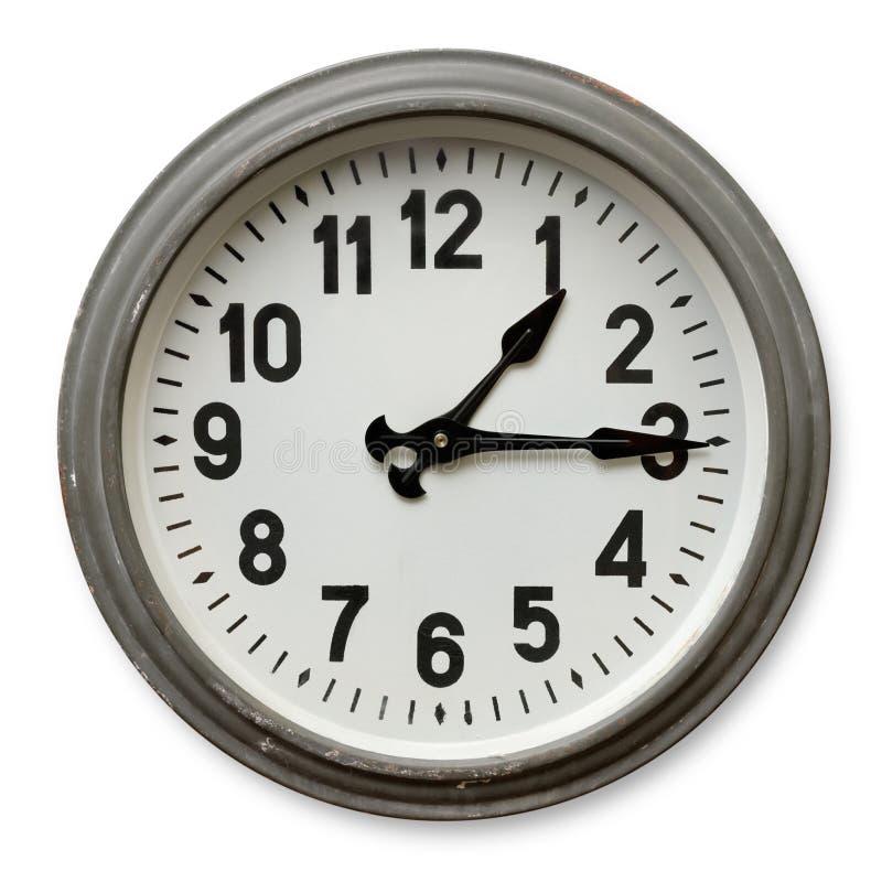 时钟来回墙壁 免版税库存图片
