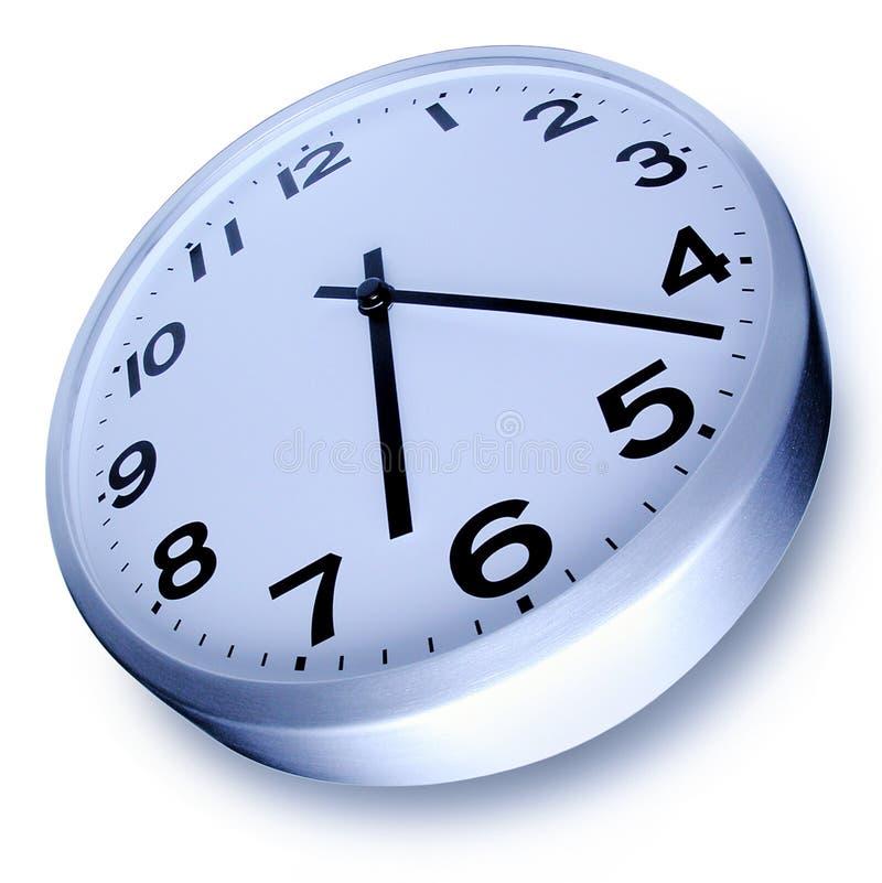 时钟查出的时间 库存例证