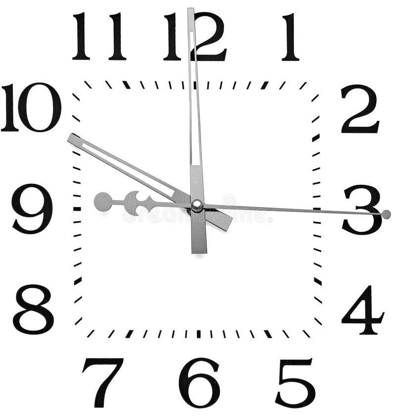 时钟查出的白色 图库摄影