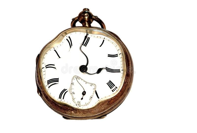 时钟概念重点强调的时间 免版税库存图片