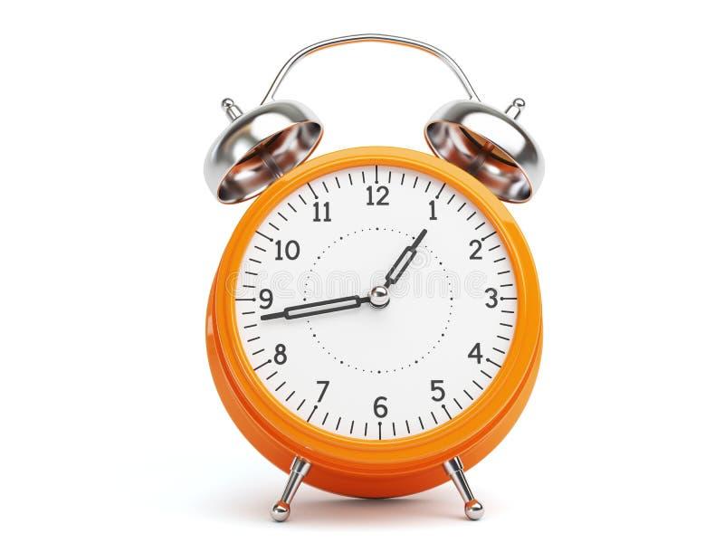 时钟橙色减速火箭 皇族释放例证