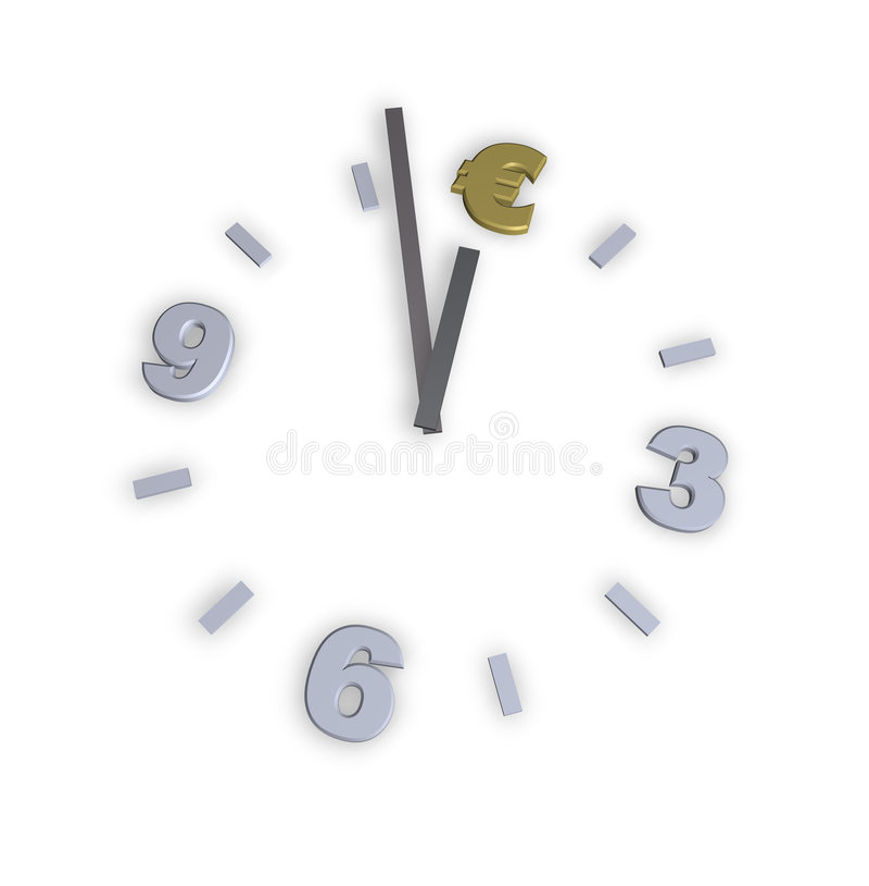 时钟欧元 向量例证