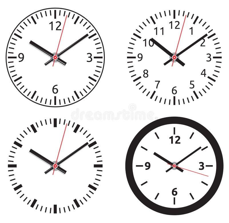 时钟汇集 库存例证