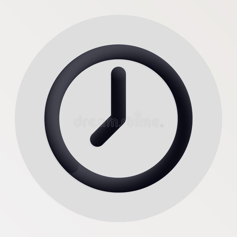 时钟混和了大胆的黑线象 皇族释放例证