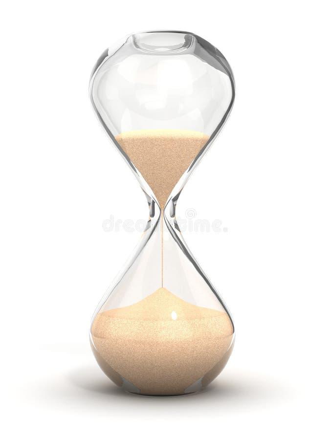 时钟滴漏沙子sandglass定时器 皇族释放例证