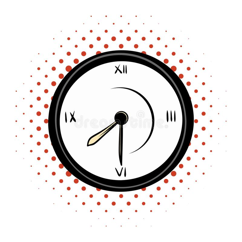 时钟漫画象 向量例证