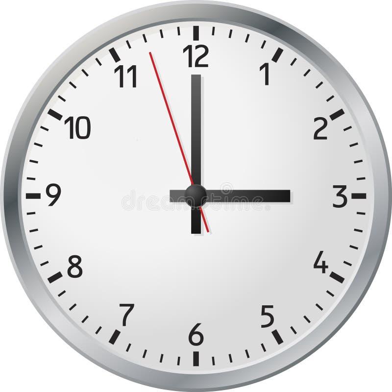 时钟白色 向量例证