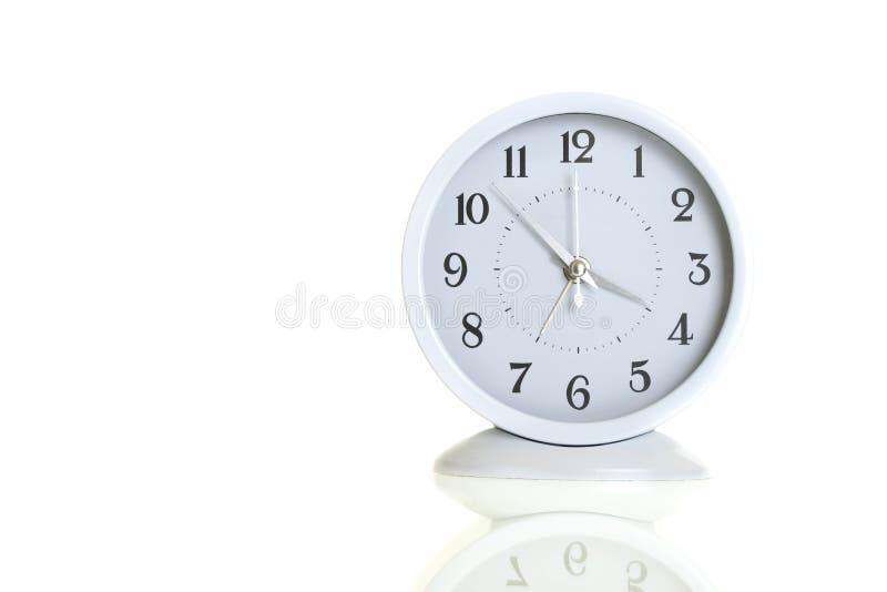时钟白色 免版税库存照片
