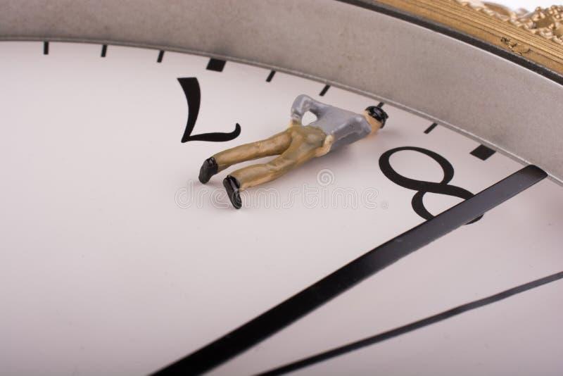 时钟的式样人 图库摄影