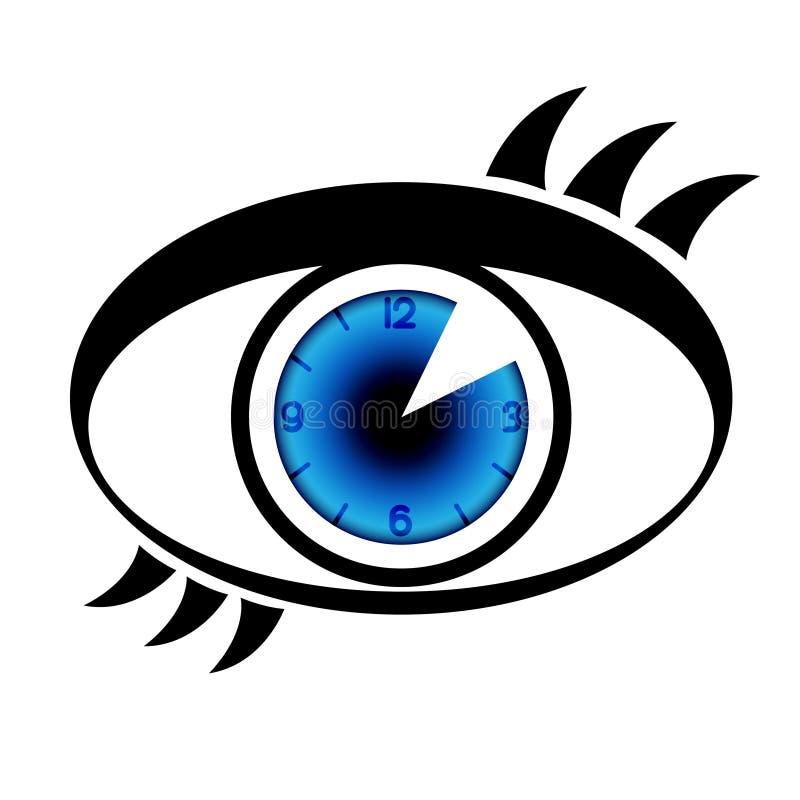 时钟眼睛符号 库存例证