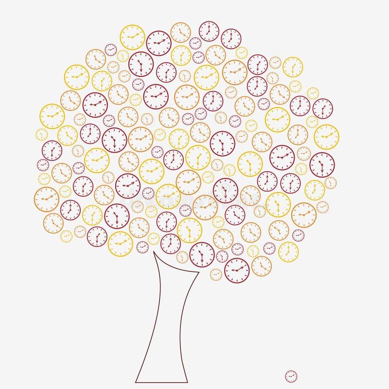 时钟结构树 向量例证
