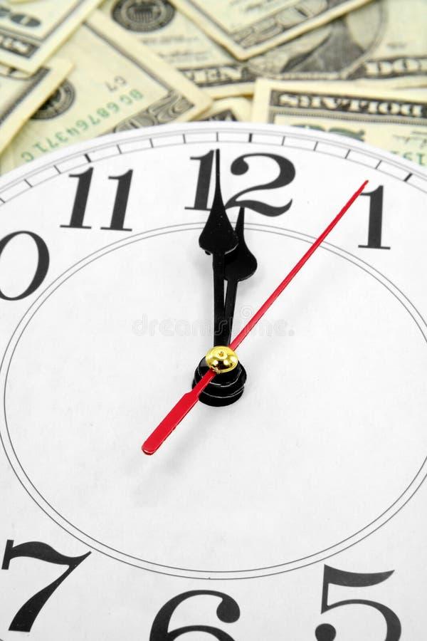时钟美元墙壁 库存照片