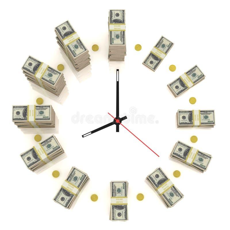 时钟美元 皇族释放例证