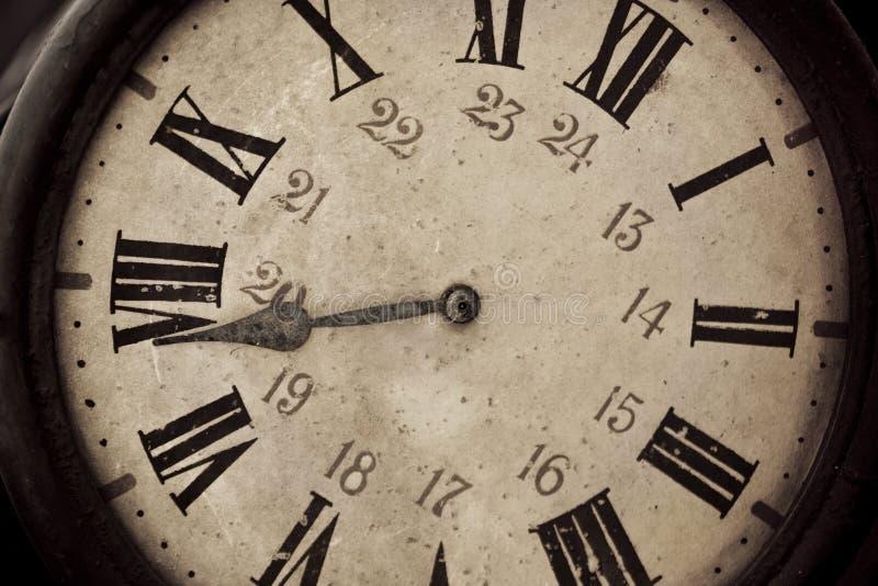 时钟老减速火箭 图库摄影