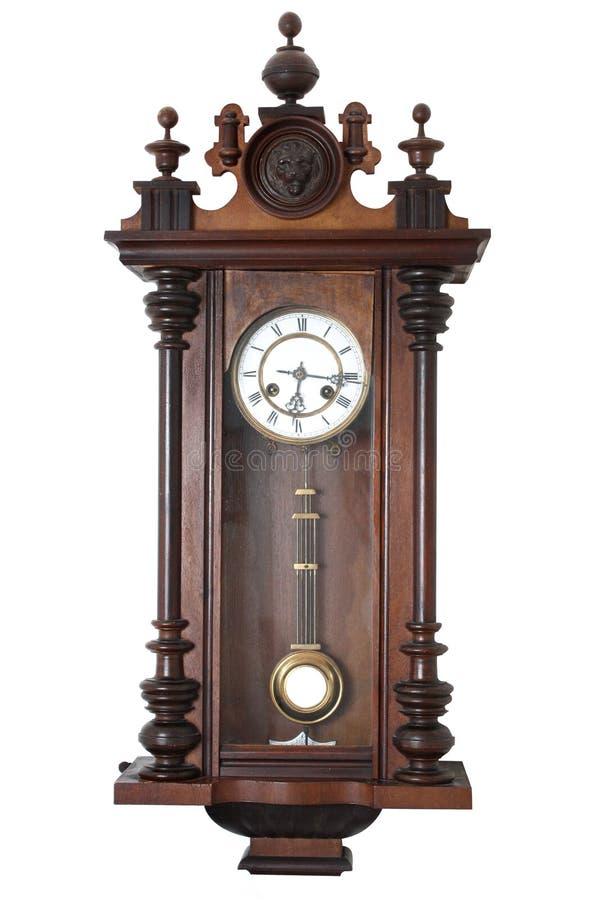 时钟老墙壁 库存照片