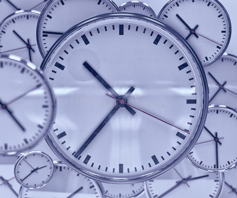 时钟背景摘要 图库摄影