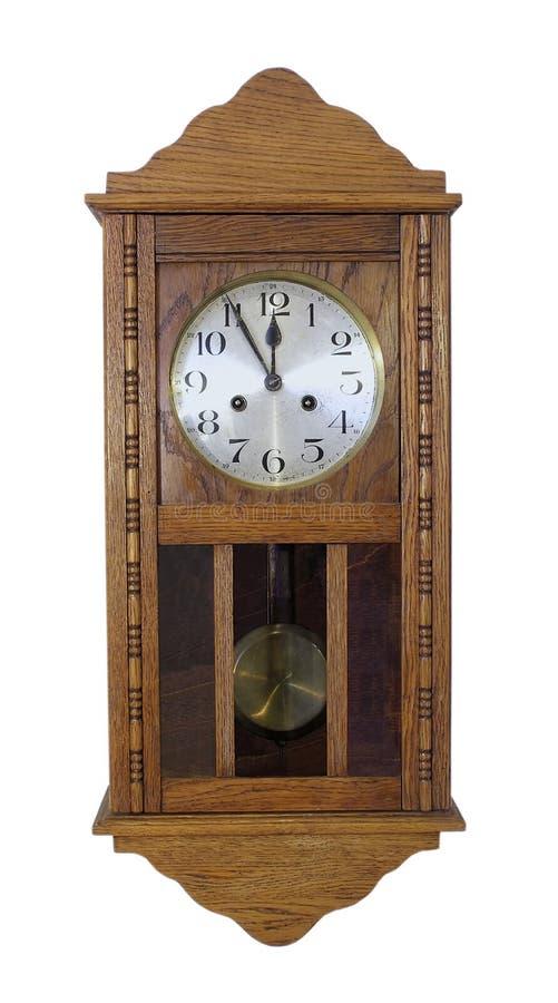 时钟葡萄酒墙壁 库存照片