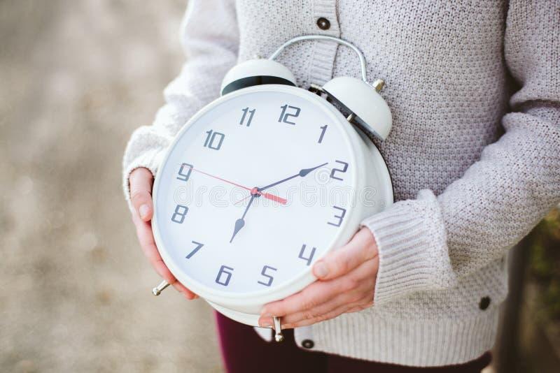 时钟藏品妇女 免版税库存照片