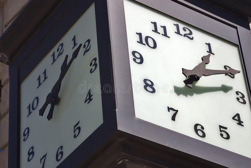 时钟街道 免版税图库摄影