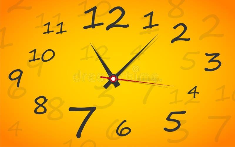 时钟表盘。 传染媒介。 设定您的时间。 向量例证