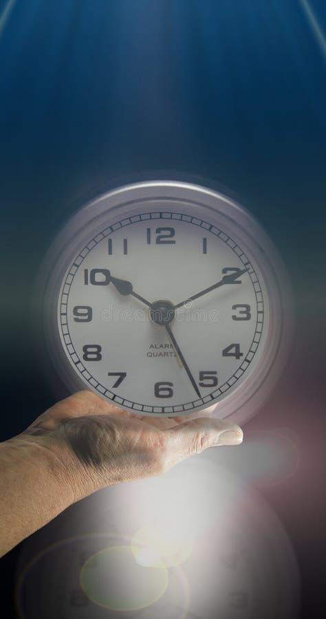 时钟表盘开放时间 库存图片