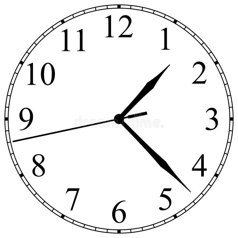 时钟表盘 库存例证
